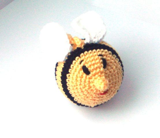 baby rattle Bee organic cotton gift for by MiracleFromThreads   Kids ...