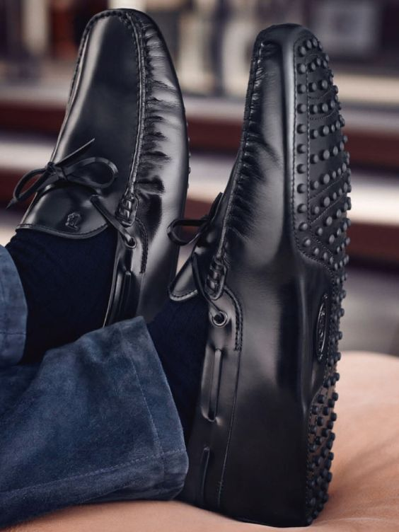 Black Suede Driving Shoes can easily