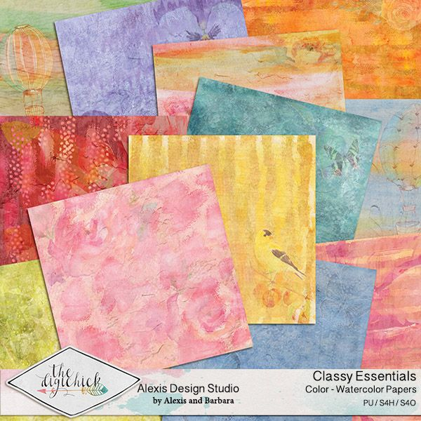Classy Essentials Color Watercolor Papers Watercolor Texture