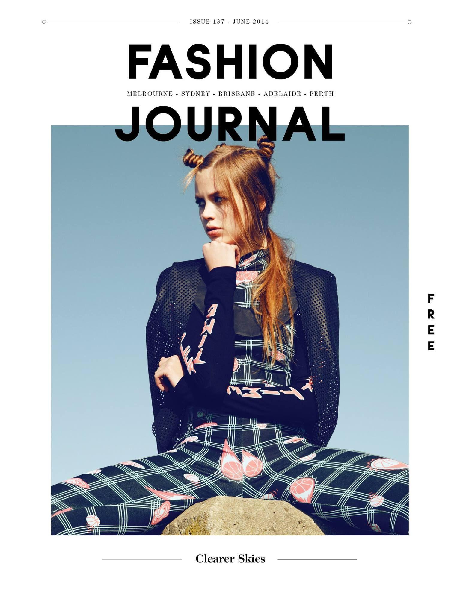 Fashion Journal エディトリアルデザイン 写真 文字 デザイン