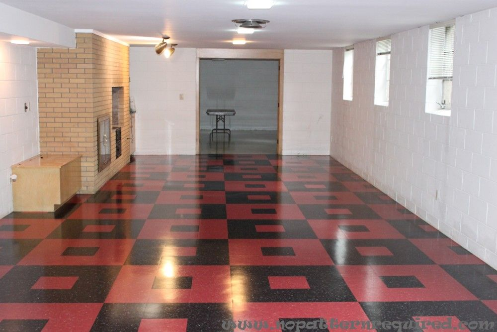 Retro Basement Ideas The Pattern Which Was Inspired By Tom S Grandpa Vinyl Tile Flooringbasement