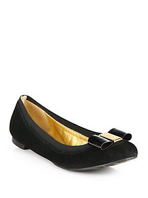 ece7babec3c Kate Spade New York Tock Suede Bow Ballet Flats
