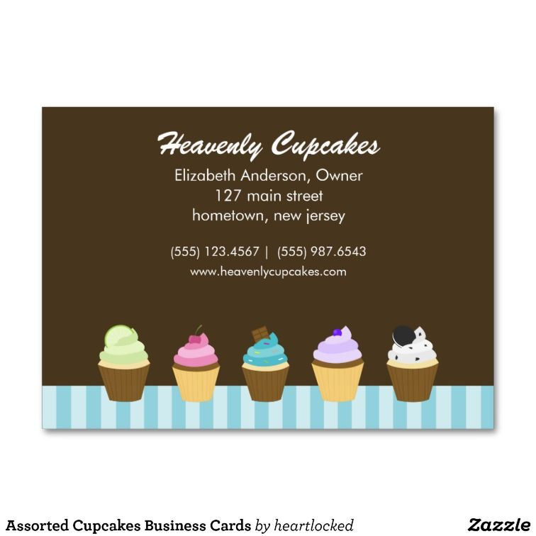Assorted Cupcakes Business Cards | Business cards and Business