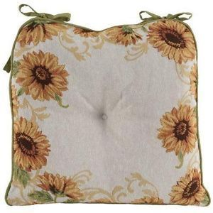 Set 4 Tapestry Country Sunflowers Kitchen Dining Chair Seat ...