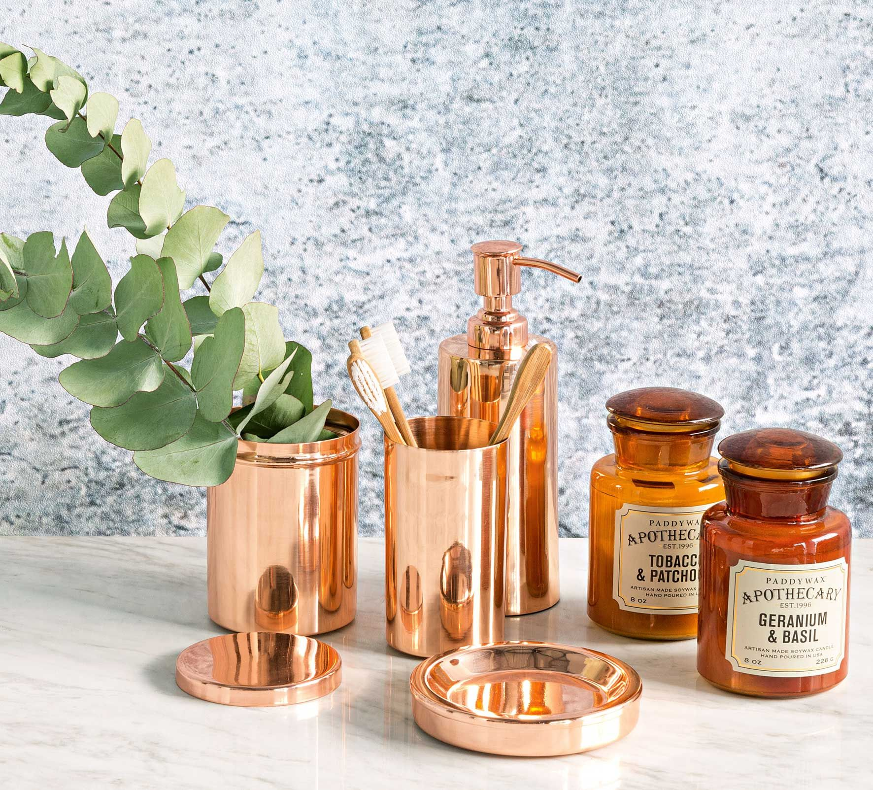 Revamp your bathroom with these new Copper bathroom accessories from Domayne