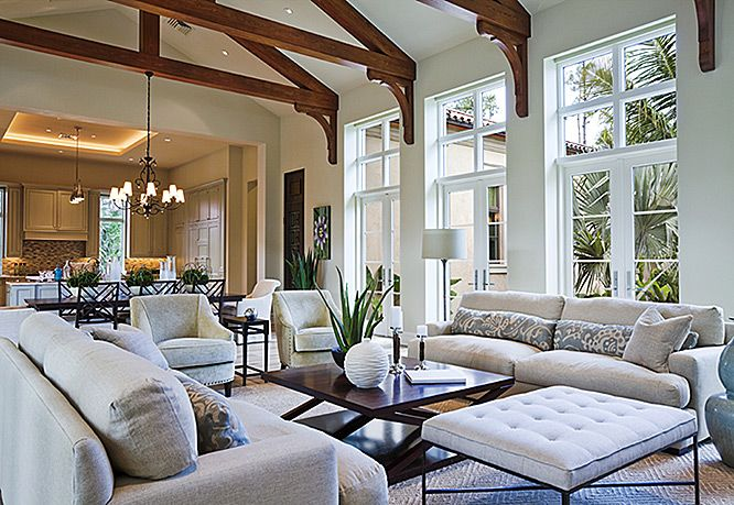 "Many Of Today's Homes Feature ""great Rooms"" With Vaulted Ceilings Inspiration Interior Design Open Concept Living Room Inspiration Design"