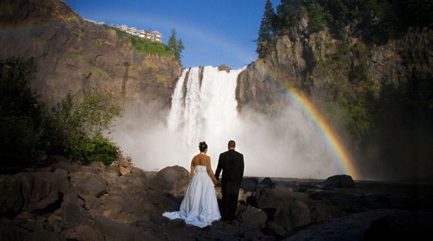 Waterfall Picture For Wedding Salish Lodge Snoqualmie Falls Wa