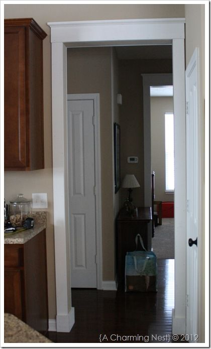 Gentil Narrow Door Trim That Can Be Paired With Wide Baseboards