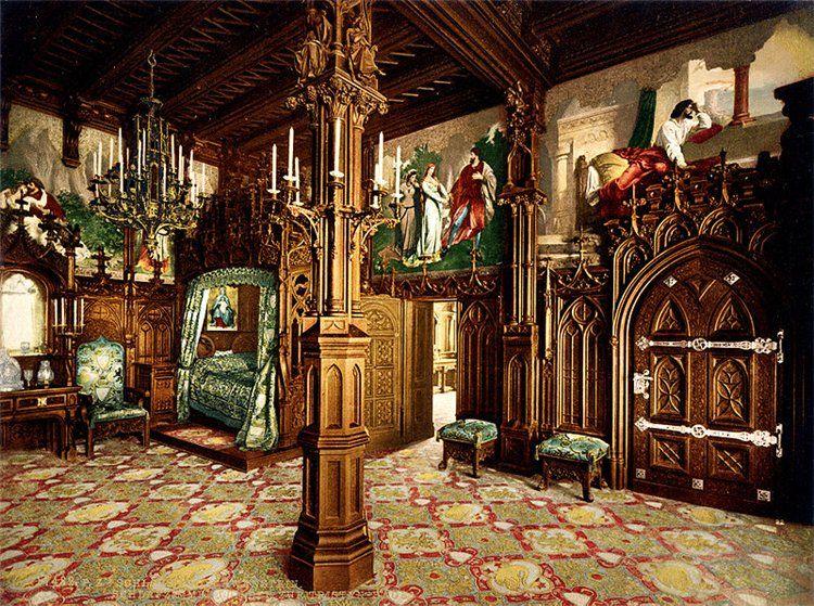 Neuschwanstein Castle Interior Deutschland Burgen Schloss Neuschwanstein Schloss Schlafzimmer