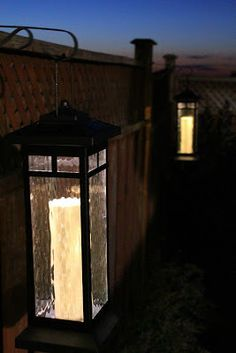 Solar Lights On Fence Posts   Google Search