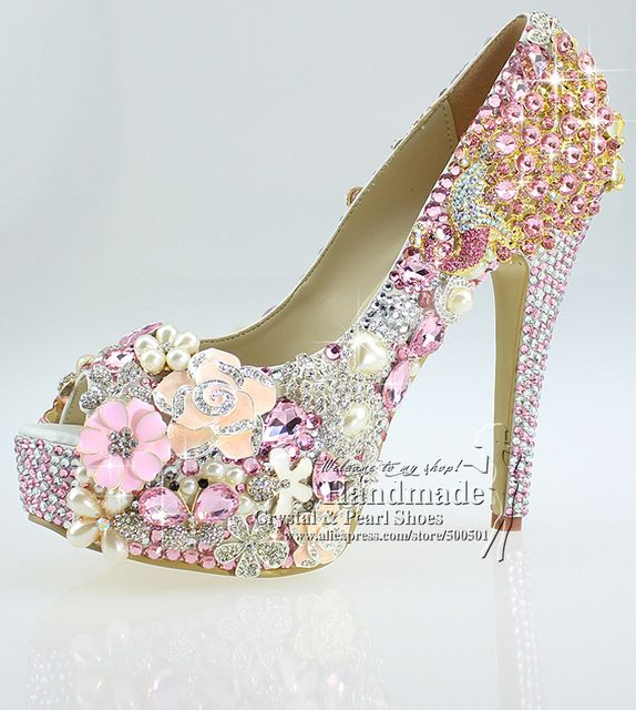 Superb Shoes Woman High Quality Lace Up Peep Toe Design Your Own Wedding Shoes  With Pink Amazing Ideas