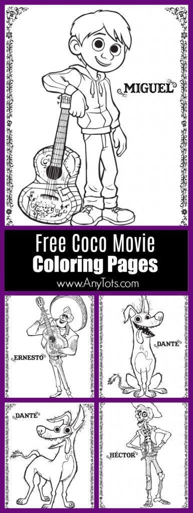 22 Free Disney Pixar\'s Coco Coloring Pages & Activity Sheets ...