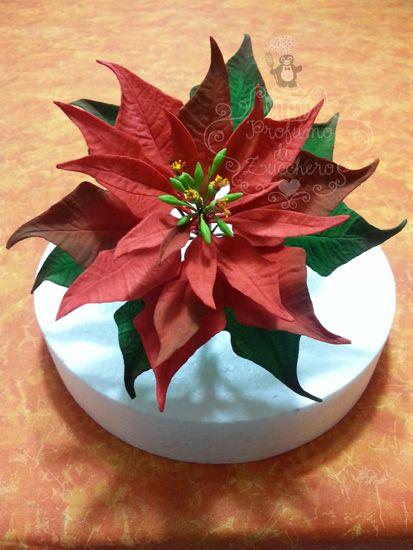 Torta Con Stella Di Natale.Tutorial Di Cake Design Come Realizzare Una Stella Di Natale Stella Di Natale Pasta Di Zucchero Fiori Fondant Flowers
