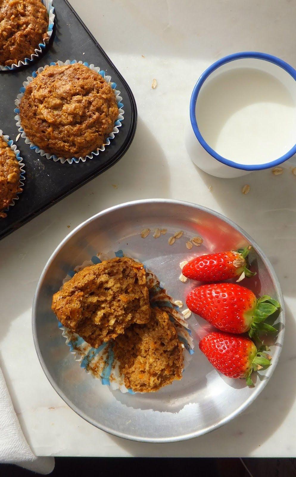 El restaurante del fin del mundo: Reto recetas sanas: Muffins integrales de avena y zanahoria para el desayuno