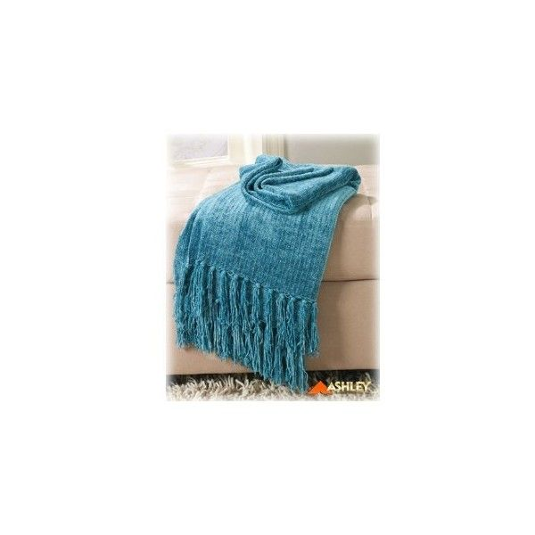 Grafton Turquoise Chenille Sofa Throw Blanket By Ashley Furniture Kitchen Dining 12 Found On Polyvore