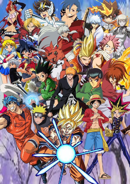Anime and Shonen Jump Protagonists by SuperSaiyanCrash on