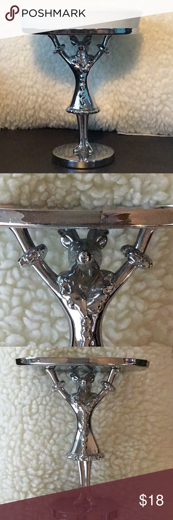 Pottery Barn Silver Reindeer Soap Dish Pottery Barn
