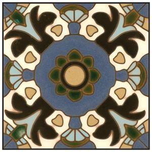 Catalina Tiles Coaster Classic Tile Vintage Tile California Pottery