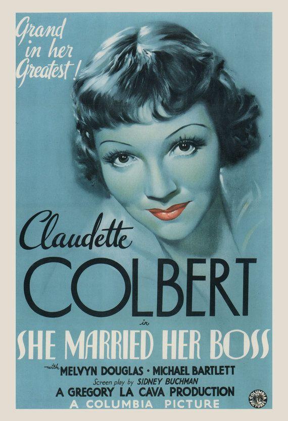 CLASSIC MOVIE POSTER - Claudette Colbert Film Poster - Powder Blue Movie Poster, Classic Film Poster, Art Film Poster