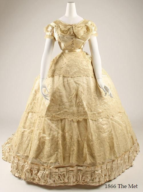1866 Wedding Dress From The Collections Of The Metropolitan Museum