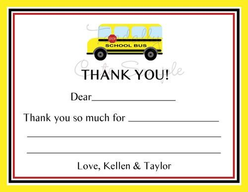 photo regarding Bus Driver Thank You Card Printable referred to as Higher education Bus Thank On your own Playing cards, Yellow Bus Thank Yourself, Bus