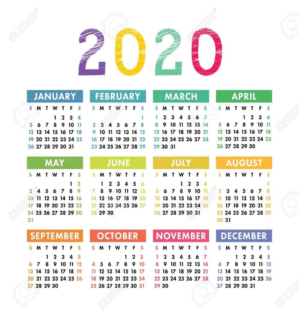 Stock Vector In 2020 Calender Template Calendar Template Calendar 2020