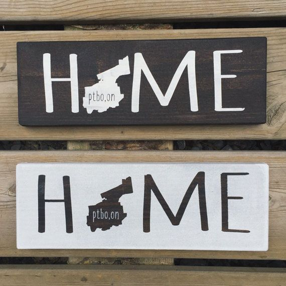 Wooden Home Signs Decor Home Sign  Province Sign  State Sign  Home Decor  Home Signs