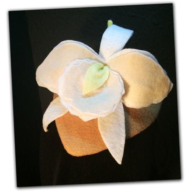orquídea de feltro
