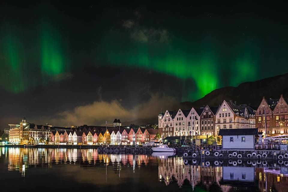 Nothern lights, Bergen, Norway