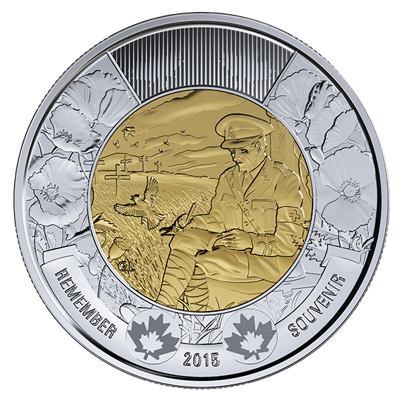 Flanders Fields Toonie $2 Coin UNCIRCULATED by RCM 2015 Remembrance Coin