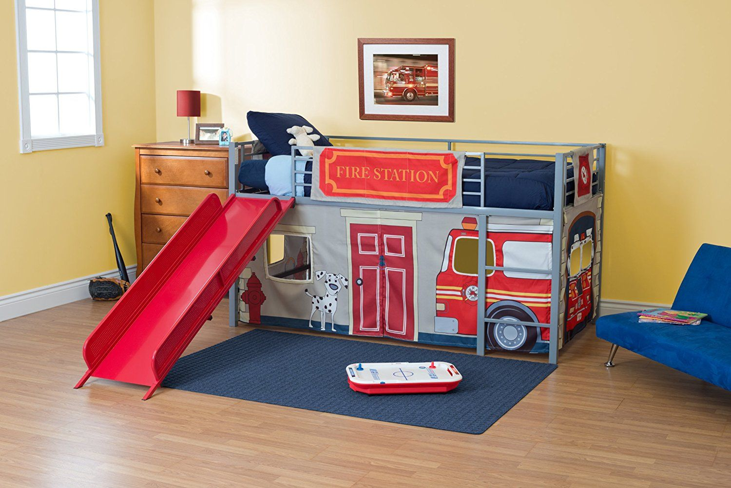 Amazon Com Dhp Curtain Set For Junior Loft Bed With Fire