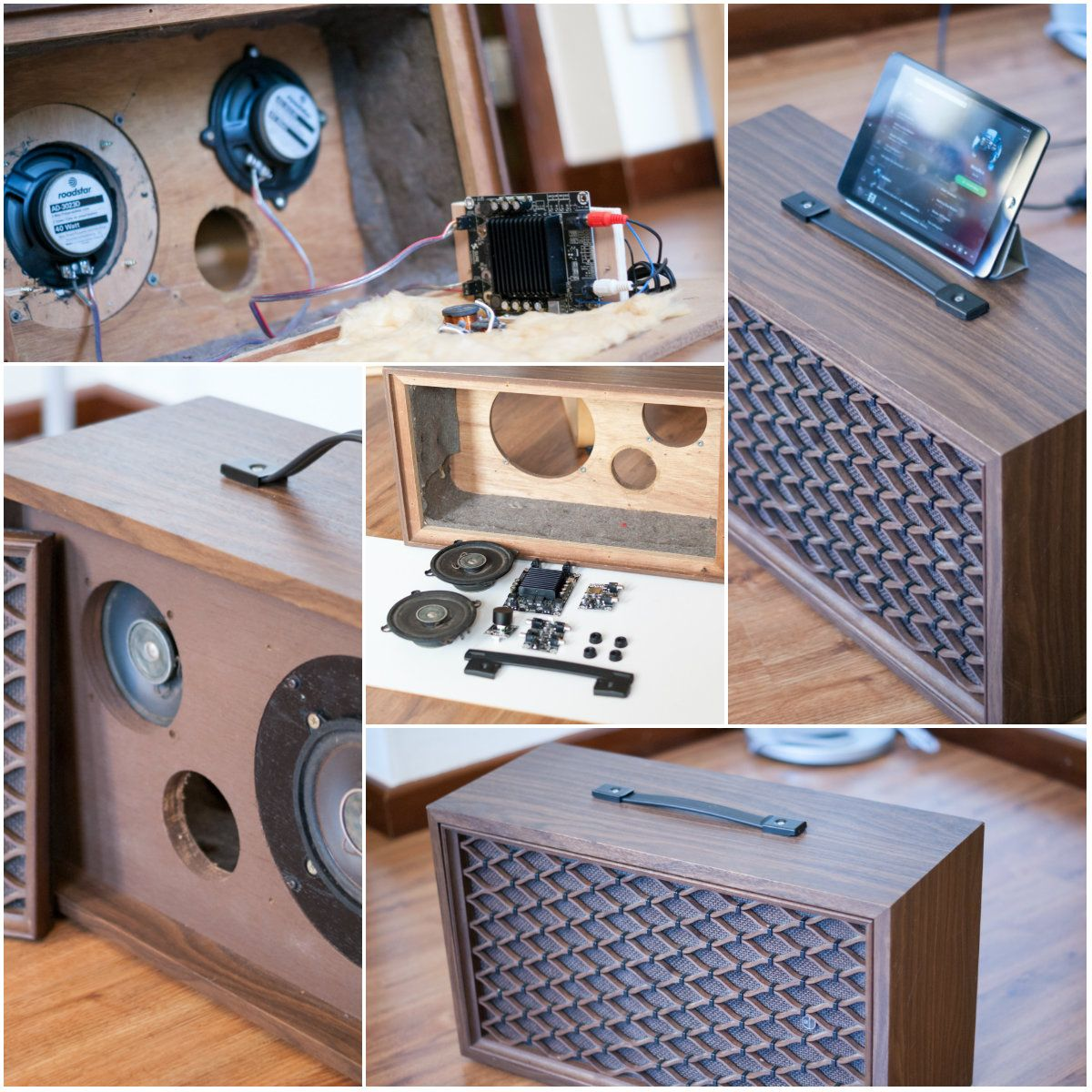 turn an old loudspeaker into a self amplified bluetooth. Black Bedroom Furniture Sets. Home Design Ideas