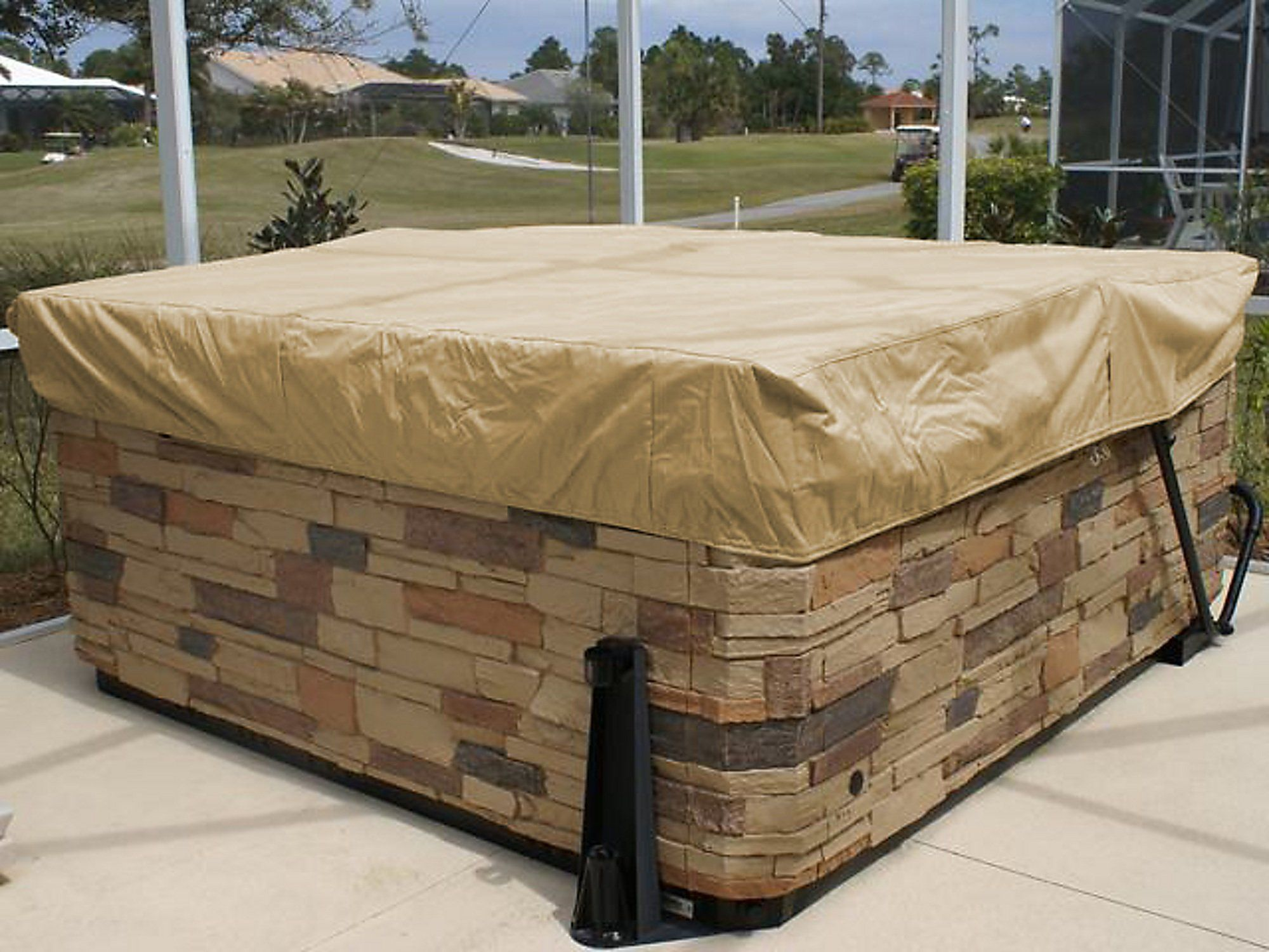Covermates Outdoor Furniture Covers In Amazoncom Covermates Square Hot Tub Cover Cap 92w 92d 14h