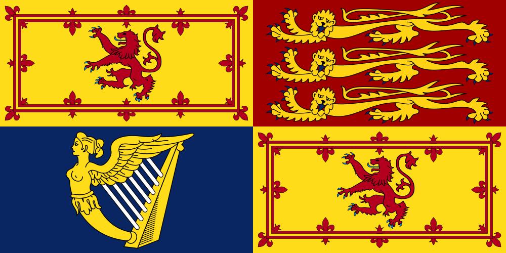 Royal Standard Of The United Kingdom In Scotland Svg Flag Flags Of The World Elizabeth Ii