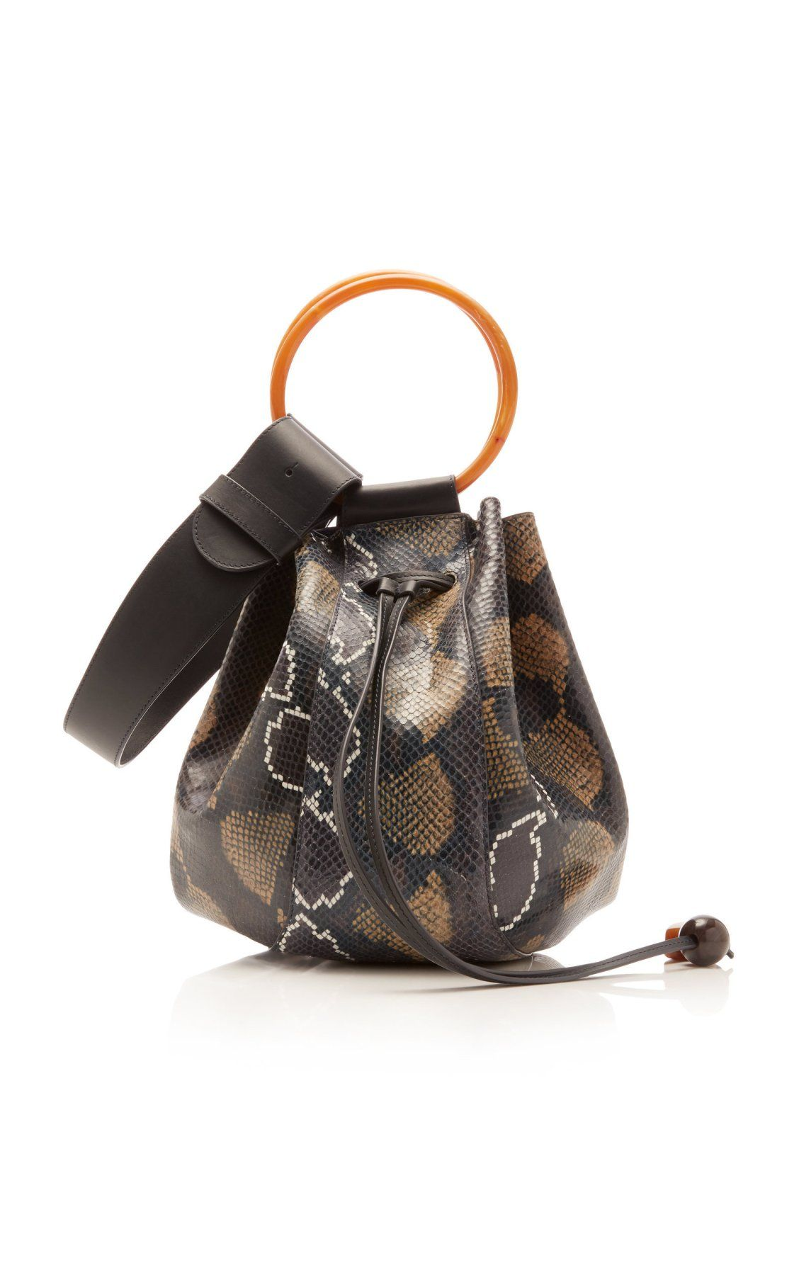 Piera Python Embossed Leather Hobo Bag by Ulla Johnson FW19  35b865bde80dd