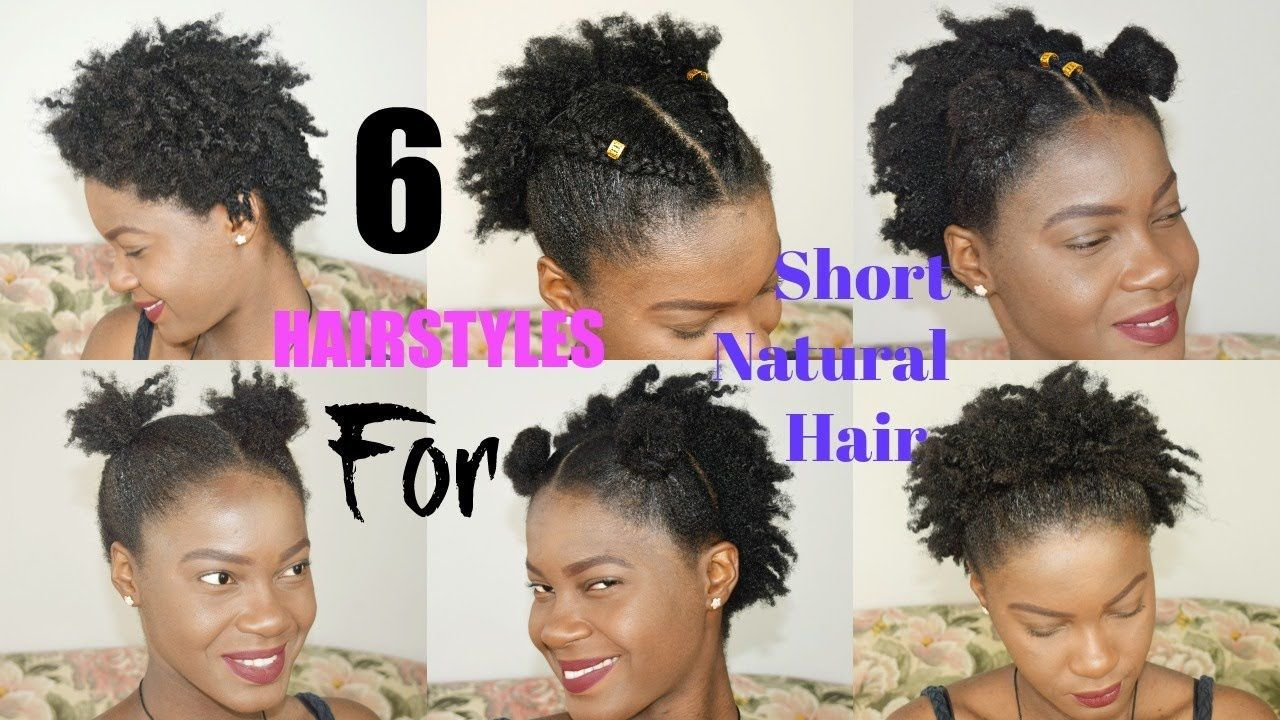 6 Quick Easy Everyday Hairstyles For Short Natural Hair Twa Thegen Everydayhair Natural Hair Styles Natural Hair Styles Easy Easy Everyday Hairstyles