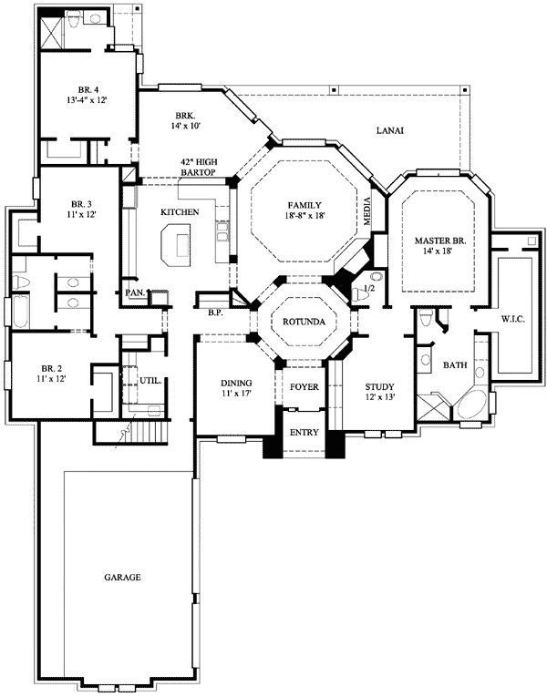 Floor Plan Contemporary House Plans One Level Homes House Plans