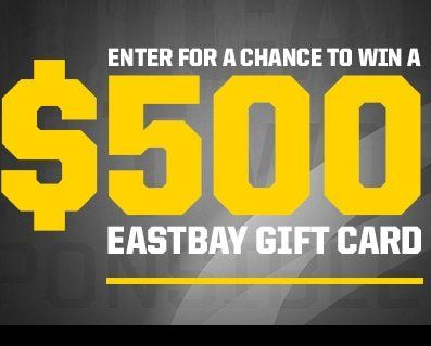 4 winners will get a $500.00 Eastbay gift card. Limit of one entry ...