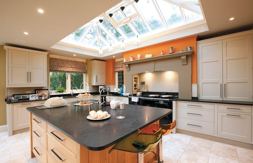 Pendant lighting from roof lantern example it can be for Orangery lighting ideas