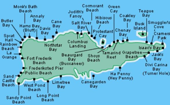 St.Croix Us Virgin Islands Map Pin by Kelly Cook on Vacations | St croix virgin islands, St