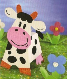 3d Cow Craft With Template 2