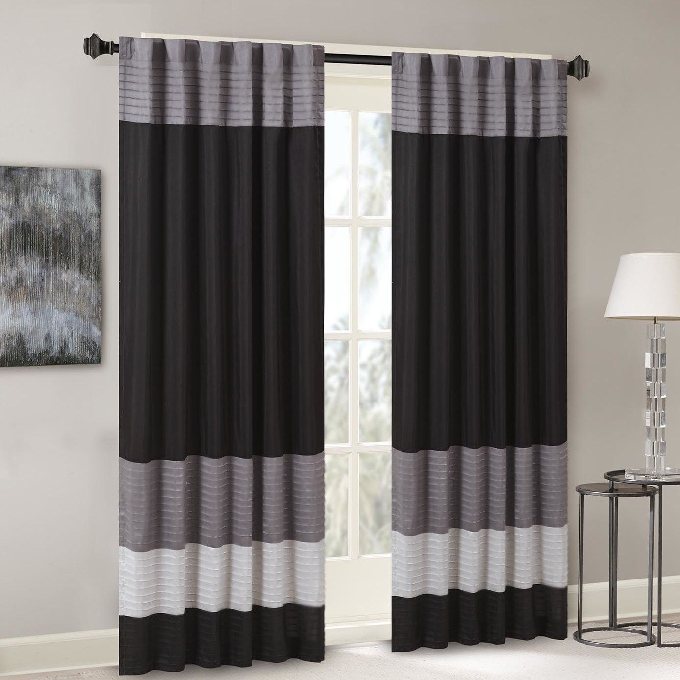 curtain window picture elrene p sheer of melody single grey panel grommet top