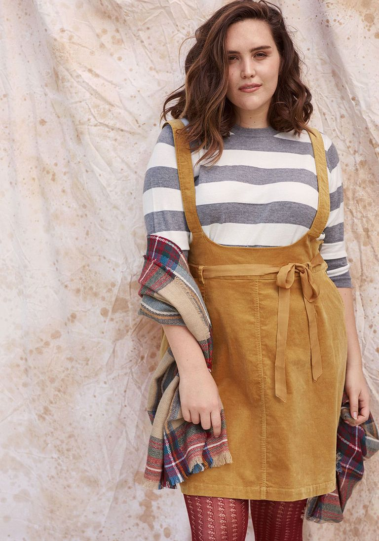 Aline corduroy jumper with pockets in xl modcloth