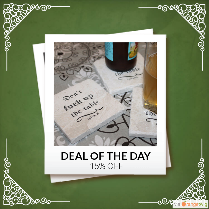 Today Only! 15% OFF this item.  Follow us on Pinterest to be the first to see our exciting Daily Deals. Today's Product: Sale -  Don't Fuck Up the Table - Please! Marble Coaster Set Buy now: https://small.bz/AAaSOMA #etsy #etsyseller #etsyshop #etsylove #etsyfinds #etsygifts #musthave #loveit #instacool #shop #shopping #onlineshopping #instashop #instagood #instafollow #photooftheday #picoftheday #love #OTstores #smallbiz #sale #dailydeal #dealoftheday #todayonly #instadaily