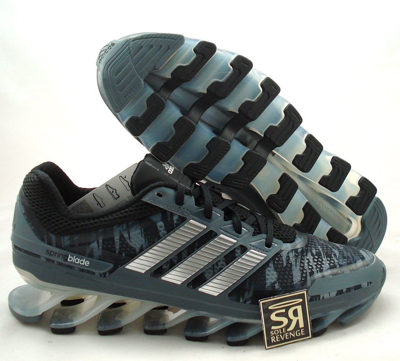 d47a16a63d69 New! adidas SPRINGBLADE Running Shoes Black Silver Gray Camo boost G66651
