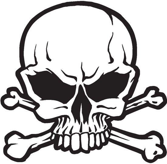 Skull And Crossbones V4 Sticker