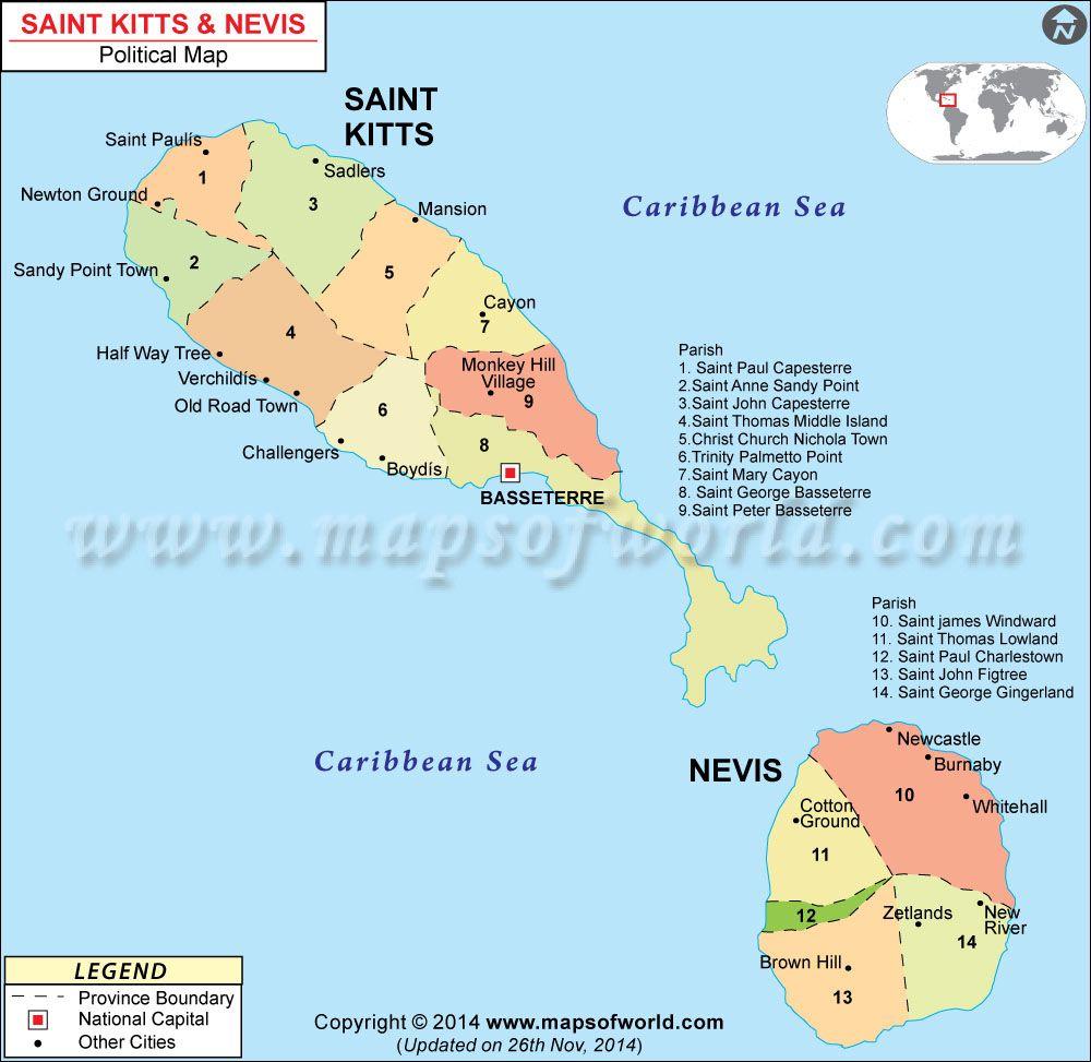 st kitts and nevis map. st kitts and nevis map  political map  pinterest  st kitts