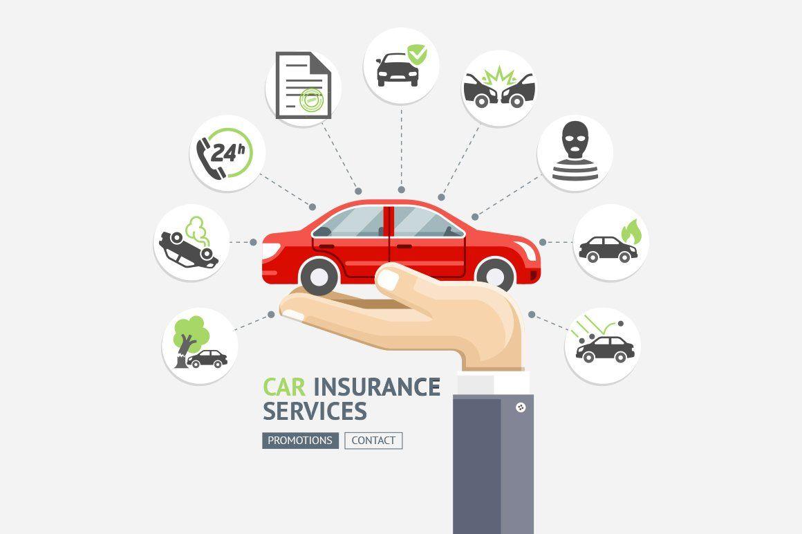 Car Insurance Services นามบ ตร ศ ลปะ