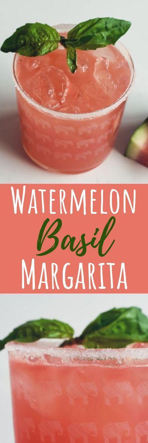 Watermelon & Basil Margarita #drinks #cocktails #boissonsfraîches