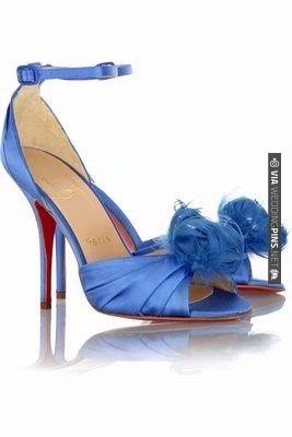 Christian Louboutin Blue Bridal Shoes | VIA #WEDDINGPINS.NET
